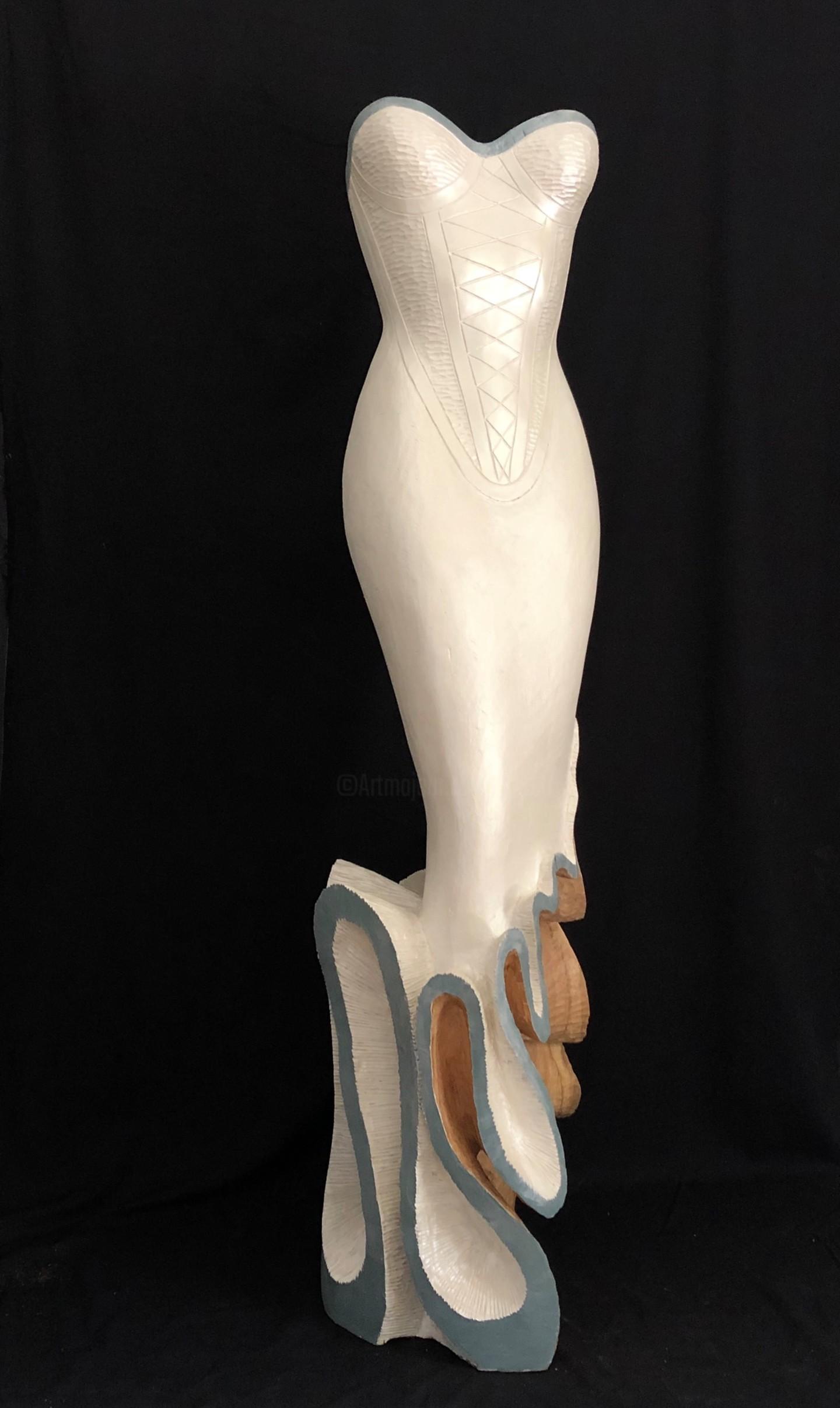 Mirèo - Robe froufrou blanc nacré