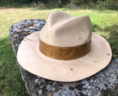 Chapeau canotier bois échelle 1:1