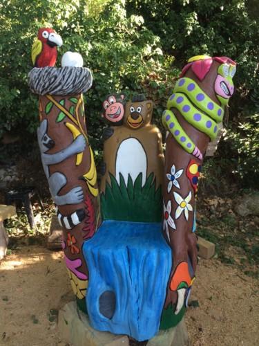 Le fauteuil de la jungle à LA FERME AUX CROCODILES